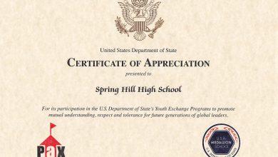 Photo of Spring Hill High School receives Medallion Member School honor