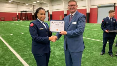 Photo of HHS ROTC Unit Tops Inspection Mark
