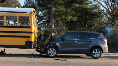 Photo of Driver Admits Looking at Phone When She Crashed into Bus Offloading Kids