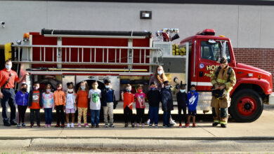 Photo of CPS Students Receive Visit from Hope Fire Department
