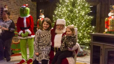 Photo of Santa Takes Time for the Kids Following Christmas Parade