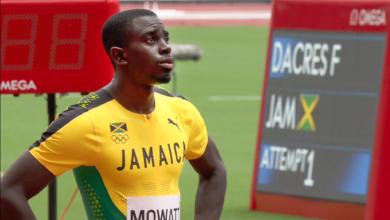 Photo of Kemar Mowatt 14th in Tokyo Olympics 400m hurdles semi-final