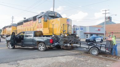 Photo of Crash With Train Temporarily Closes 3rd St.