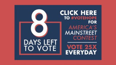 Photo of 8 Days Left to #VoteHope in America's Main Street Contest