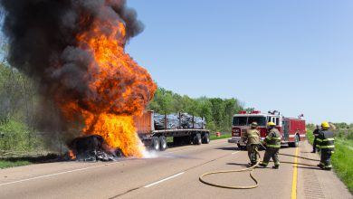 Photo of Truck Fire Causes I-30 Traffic Headaches