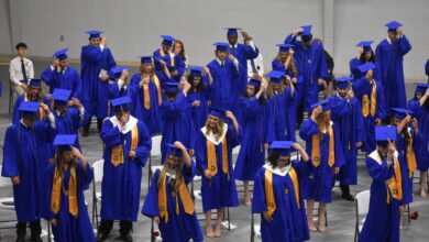 Photo of Spring Hill High School Class of 2021 graduates with 38 students