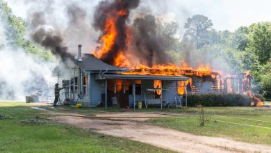 Photo of Veteran Loses Home to Fire