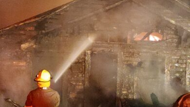 Photo of Sunday Evening Fire, Total Loss