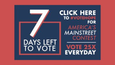 Photo of 1 Week Left to #VoteHope in America's Main Street Contest