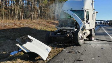Photo of Two Semi Trucks Collide on I30