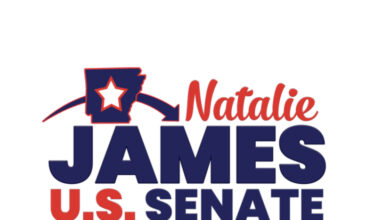 Photo of Natalie James, Democratic candidate for United States Senate, speaks out following Senator John Boozman vote rejecting opening debate of the bipartisan infrastructure package