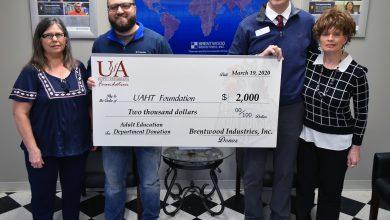 Photo of Brentwood Industries Donates to UA Hope-Texarkana Adult Education Programs