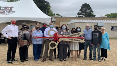Photo of HAPS Cuts the Ribbon for FB&T Tent Donation