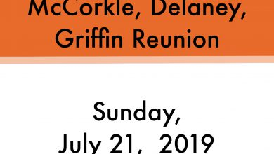 Photo of McCorkle, Delaney, Griffin Reunion will be held July 21st