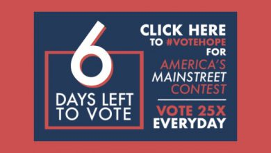 Photo of 6 Days Left to #VoteHope in America's Main Street Contest
