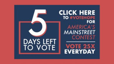 Photo of 5 Days Left to #VoteHope in America's Main Street Contest