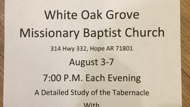 Photo of White Oak Baptist Church to Host Tabernacle Revival