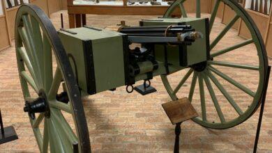 Photo of Model 1877 Gatling Gun on Display at B.W. Edwards Weapons Museum