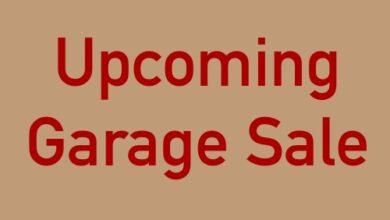 Photo of Upcoming Local Garage & Yard Sales