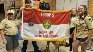 Photo of Scout Troop 5 Dedicates New Troop Flag