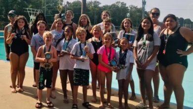 Photo of Hope Piranhas Swim Team celebrate the end of another successful season