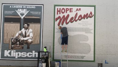 Photo of Artist Joel Boyd finishes second mural for the City of Hope