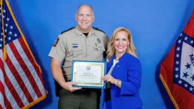 Photo of Beavers and Neal are Officer of the Year Recipient's