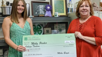 Photo of Molly Parker annouced as recipient of the John W. White Arkansas 4-H Scholarship