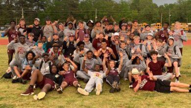 Photo of Prescott Jr High Track & Field win 17th District Championship in a row, Sr. High wins 15th