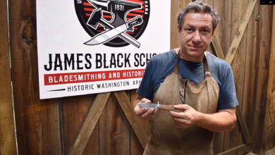 Photo of Damascus Steel Knifemaking Class to be Offered at James Black School of Bladesmithing