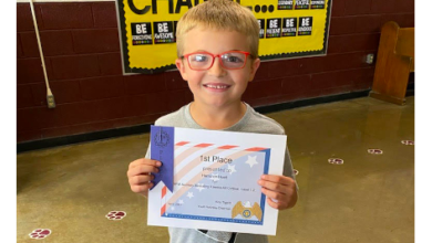 Photo of PES Students Shine in Art Contest; Huett Wins Overall