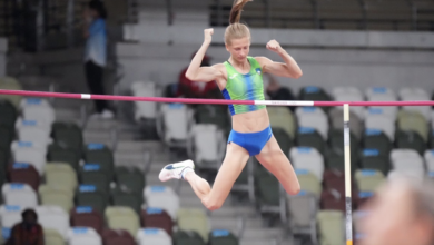 Photo of Tina Sutej ties for 5th place in Tokyo Olympic pole vault final