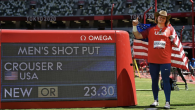 Photo of Ryan Crouser defends shot put gold with three Olympic records