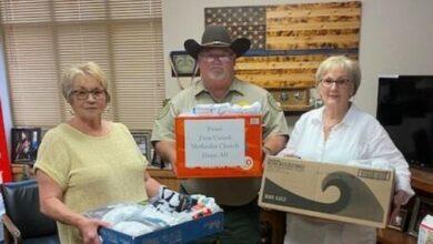 Photo of First United Methodist Donates Socks to Inmates