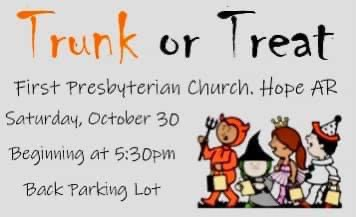 Photo of First Presbyterian Plans Trunk or Treat