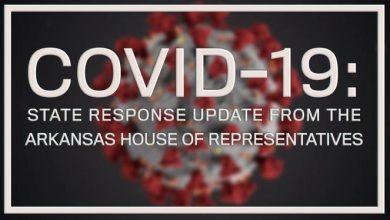 Photo of Daily COVID-19 Response Summary from the Arkansas House of Representatives