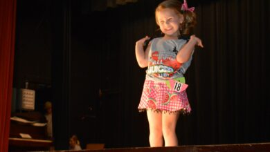 Photo of Contestants At Hope Watermelon Pageant Entertain the Crowd