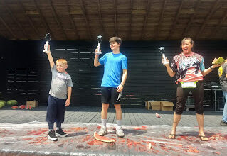 Photo of Watermelon Eating Contest Winners: Kids & Adults
